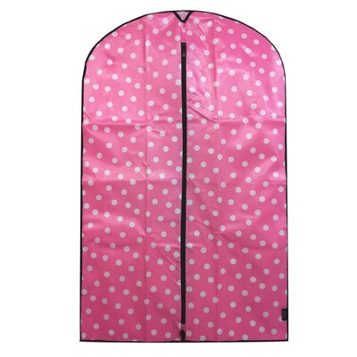 Travel Polka Dot Garment Bag in Pink and White