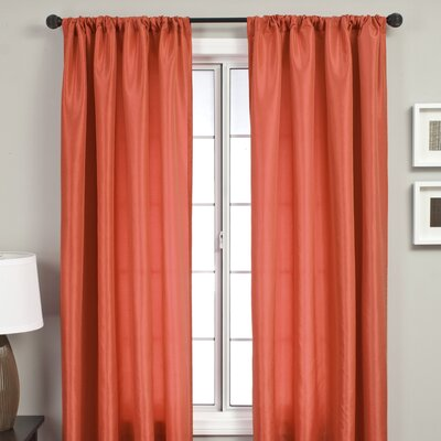 Softline Home Fashions Bella Kids Rod Pocket Panel in Burnt Orange