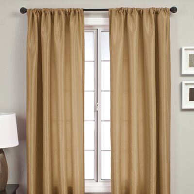 Softline Home Fashions Bella Rod Pocket Curtain Single Panel