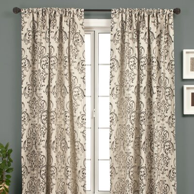 Softline Home Fashions Laura Rod Pocket Panel in Shell