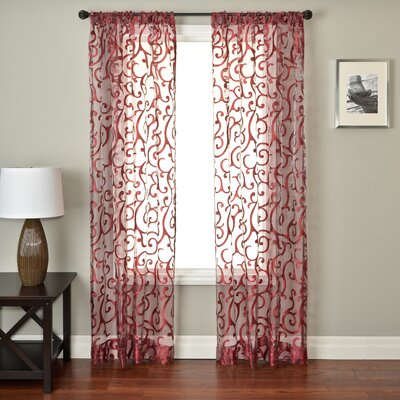 Softline Home Fashions Abel Rod Pocket Panel in Sangria