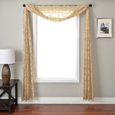 Softline Home Fashions Badi Scroll 6 Yard Single Window Scarf