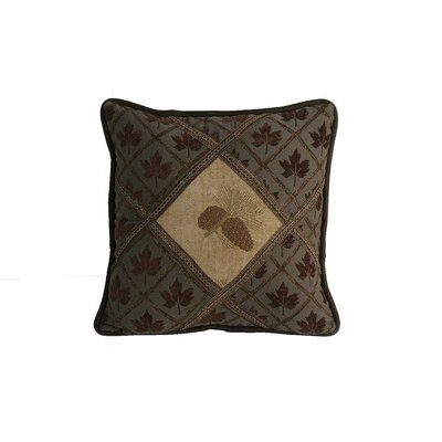 HiEnd Accents Pine Cones Diamond Polyester Pillow