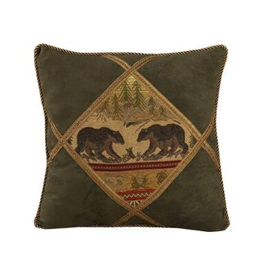 Bear Diamond Shape Polyester Pillow