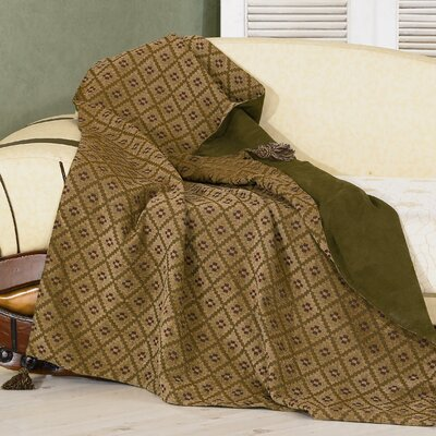 HiEnd Accents Pine Reversible Chenille Polyester Throw