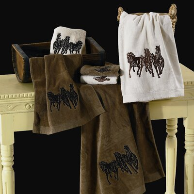HiEnd Accents Horse 3 Piece Towel Set