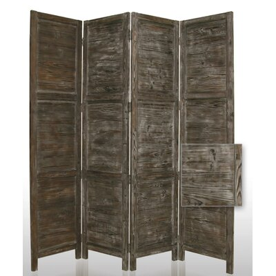 "Screen Gems 84"" Nantucket Painted Room Divider in Black"