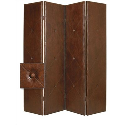 Screen Gems Copley Faux Leather Double Sided Room Divider