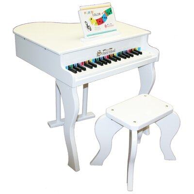 Schoenhut Elite Baby Grand Piano in White