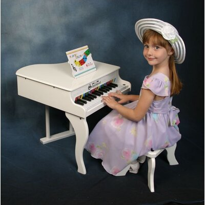 Schoenhut Fancy Baby Grand Piano in White