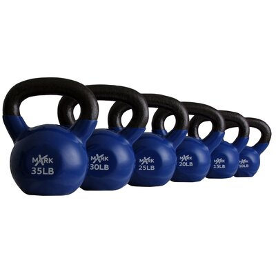 X-Mark 10 lbs - 35 lbs Vinyl Coated Kettlebell Set