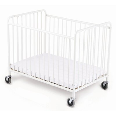 Foundations Stowaway Folding Compact Crib and Mattress Set