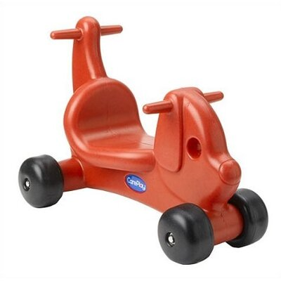 CarePlay Puppy Dog Ride - On / Walker with Handles in Red