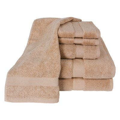 Calcot Ltd. 100% Supima Zero-Twist Cotton 6-Piece Towel Set in Sand