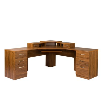 OS Home & Office Furniture Office Adaptations Corner Desk with Monitor Platform