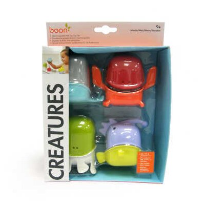 Boon Creature Cups Interchangeable Bath Toy Cup Set in Multicolor