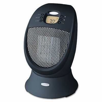 "Honeywell Honeywell 14"" 1500W Black Ceramic Heater HZ-338"