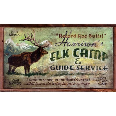 Vintage Signs Elk Camp Vintage Sign