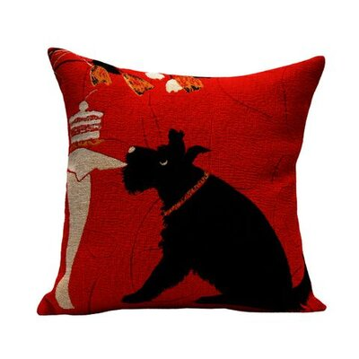Jules Pansu Scottish Tapestry Cotton Twill Pillow