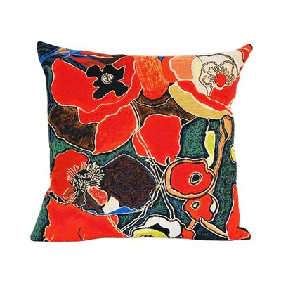 Jules Pansu Pavots Talva Tapestry Cotton Twill Pillow
