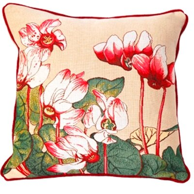 Jules Pansu French Tapestry Cyclamen Cotton Pillow
