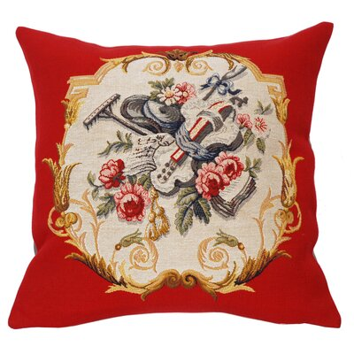 Jules Pansu French Tapestry Jardinier Cotton Pillow