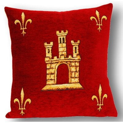 Jules Pansu French Tapestry Sainte Chapelle Cotton Pillow