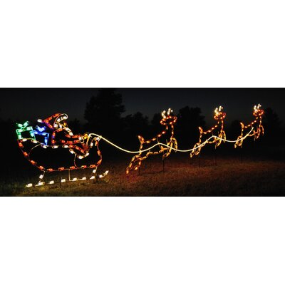 Holiday Lighting Specialists Small Reindeer Light Set