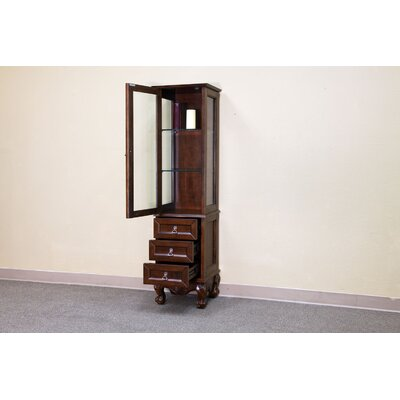 Bellaterra Home Elbridge Linen Cabinet in Medium Walnut
