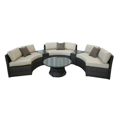 Kontiki 6 Piece Deep Seating Group with Cushions