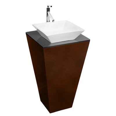 Wyndham Collection Esprit Pedestal Bathroom Vanity Set in Espresso