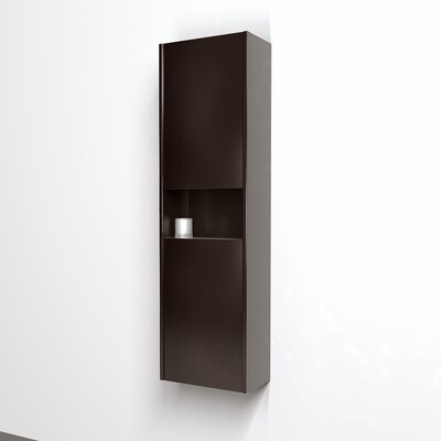 Wyndham Collection Sarah Wall-Mounted Bathroom Storage Cabinet in Espresso