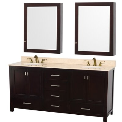 "Wyndham Collection Abingdon 72"" Double Bathroom Vanity Set"