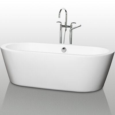 "Wyndham Collection Mermaid 67"" x 31.25"" Soaking Bathtub"
