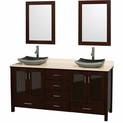 "Wyndham Collection Lucy 72"" Double Bathroom Vanity Set"