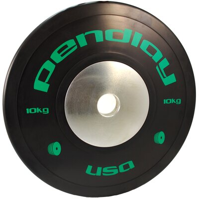 10kg Elite Black Bumper Plates in Colored Ink (Set of 2)