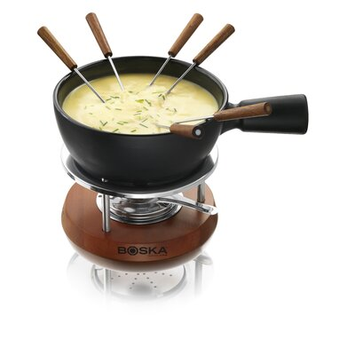 Boska Holland Cheese Fondue Nero in Mahogany Wood