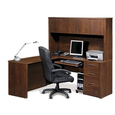 "Bestar Embassy 66"" L-Shaped Desk Office Suite"