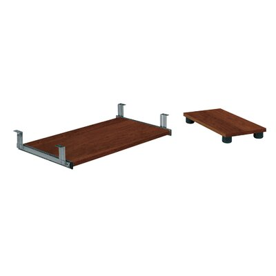 Bestar Keyboard Shelf and CPU Platform in Tuscany Brown