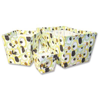 Trend Lab Giggles Fabric Storage Bins in Print