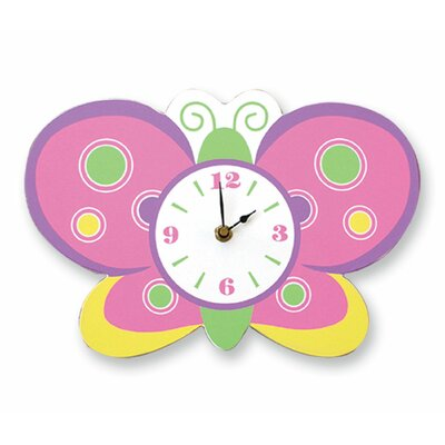 Trend Lab Baby Butterfly Purple Wall Clock