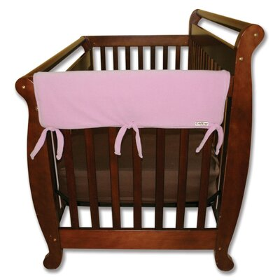 "Trend Lab 2 Pack of 27"" Pink Fleece Side Crib Rail Cover"