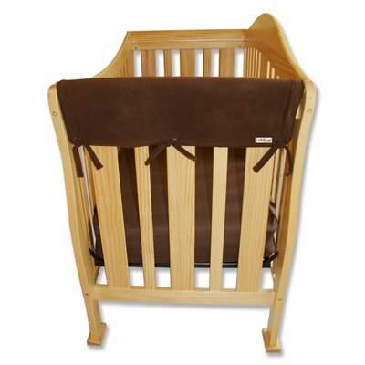 "Trend Lab 2 Pack of 27"" Brown Fleece Side Crib Rail Cover"