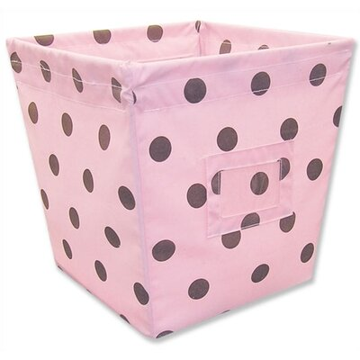 Maya Medium Fabric Storage Bin in Dots