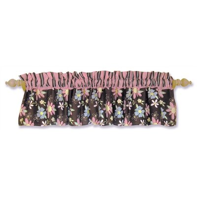 Trend Lab Blossoms Rod Pocket Ruffled Curtain Valance