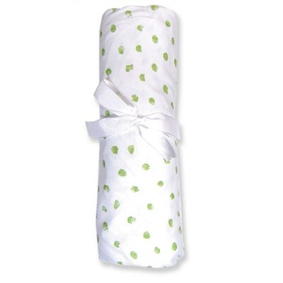 Trend Lab 100% Deluxe Cotton Jersey Baby Crib Sheet in Green Thumbprint