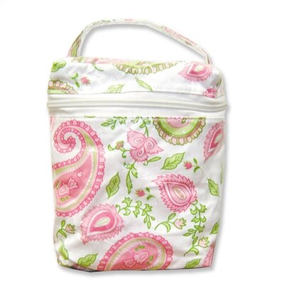 Insulated Bottle Bag in Paisley Park Pink