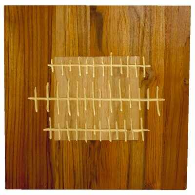 RS Furnishings Pura Vida I Shock Wave Teak Panel in Natural with Insert and Gold Waves