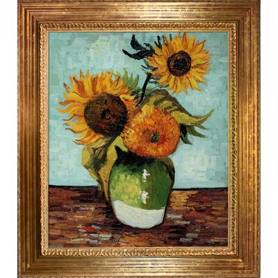Sunflowers, First Version Canvas Art
