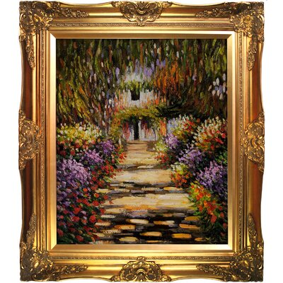 Tori Home Garden Path at Giverny Canvas Art